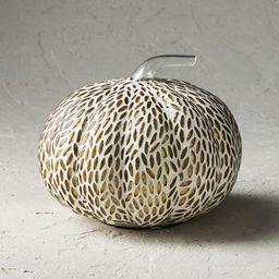 Mosaic Almond Glass Pumpkin | Frontgate | Frontgate
