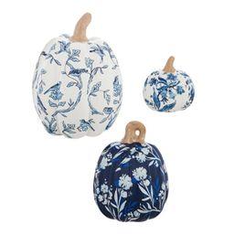 Printed Ceramic Pumpkins 3 Piece Figurine Set | Wayfair Professional