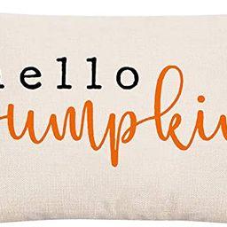 GTEXT 20x12 inch Farmhouse Hello Pumpkin Pillow Cover Long Cushion Cover Farm Decorative Couch Pi...   Amazon (US)