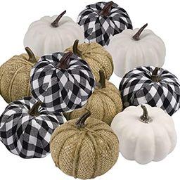 12 pcs Artificial Pumpkins Decor Assorted Color Fake Pumpkins for Table Thanksgiving Halloween Fa...   Amazon (US)