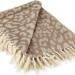 DII Bold Eclectic Leopard Woven Throw, 50x60, White   Amazon (US)