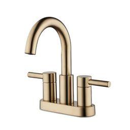 Jacuzzi Duncan Brushed Bronze 2-handle 4-in Centerset WaterSense Bathroom Sink Faucet with Drain ...   Walmart (US)
