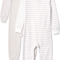 Hanes Ultimate Baby Zippin 2 Pack Sleep and Play Suits | Amazon (US)