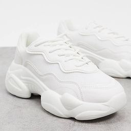 ASOS DESIGN Wide Fit Divine chunky trainers in white | ASOS (Global)