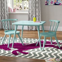 Nicklas Kids 3 Piece Square Play / Activity Table and Chair Set | Wayfair North America
