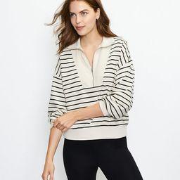 Striped Zip Sweatshirt | LOFT
