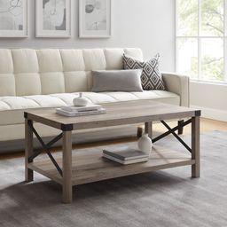Magnolia Metal X Grey Wash Coffee Table by Desert Fields - Walmart.com   Walmart (US)