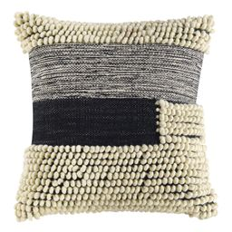 """Better Homes & Gardens Handcrafted Banded Loop Decorative Throw Pillow, 18""""x18"""", Ivory - Walmart....   Walmart (US)"""