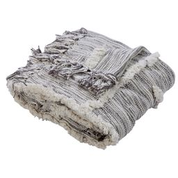 "Woven Paths Abstract Lines Gray & Natural Cotton Throw Blanket, 50"" x 60"" - Walmart.com   Walmart (US)"
