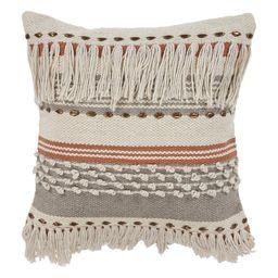 "LR Home Fringe Striped Chic Natural Gray Throw Pillow ( 18"" x 18"" ) - Walmart.com   Walmart (US)"