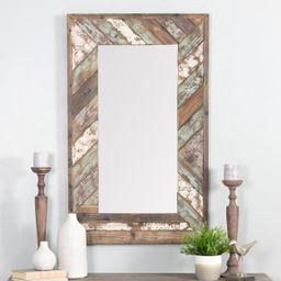 """Brogan Distressed Wood Slat Wall Mirror Multi-Colored 43"""" x 26"""" by Aspire - Walmart.com   Walmart (US)"""