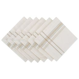 "DII Chambray French Stripe Kitchen Napkin Set, Set of 6, 20""x20"", 100% Cotton, Multiple Colors | Walmart (US)"
