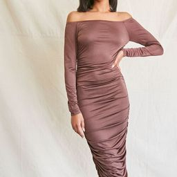 Off-the-Shoulder Midi Dress   Forever 21 (US)