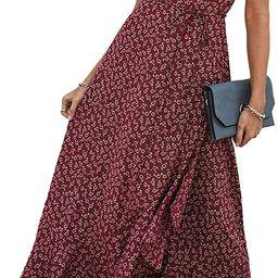 PRETTYGARDEN Women's Summer Wrap Maxi Dress Casual Boho Floral V Neck Short Sleeve Ruffle Hem Spl...   Amazon (US)