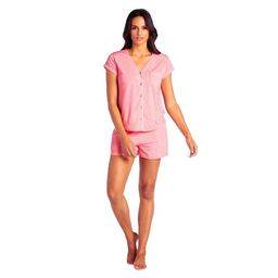 Softies Women's Cap Sleeve PJ Shorts Set with Contrast Piping   Target