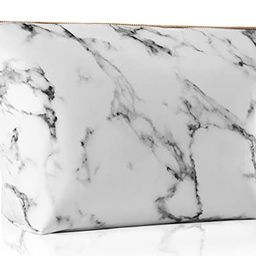 Marble Makeup Bag Large Cosmetic Bag Portable Waterproof Organizer Bag Travel Toiletry Pouch for ...   Amazon (US)