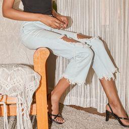 Maggie Light Blue Mid-Rise Distressed Jeans | Lulus (US)