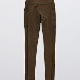 OFFLINE OG High Waisted Pocket Legging Women's Olive Daze XL Long | American Eagle Outfitters (US & CA)