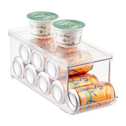 iDesign Linus Fridge Bins Soda Can Organizer with Shelf | The Container Store