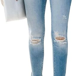 LONGYIDA Womens Ripped Jeans Stretchy High Waist Skinny Ankle Pants Button Fly Jeans for Women | Amazon (US)