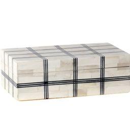 DOMINO PLAID BOX | Alice Lane Home Collection