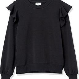 The Drop Women's Ruby Ruffle-Shoulder Supersoft Stretch Sweatshirt   Amazon (US)