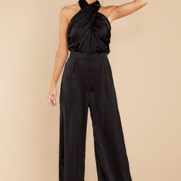Story Of Us Black Jumpsuit | Red Dress