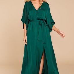 Can't Look AwayHunter Green Maxi Dress | Red Dress