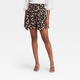 Women's Button Detail Paperbag Shorts - Who What Wear™ | Target