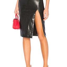 Jezabel Faux Leather Midi Skirt                                          superdown   Revolve Clothing (Global)