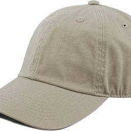 The Hat Depot Unisex Blank Washed Low Profile Cotton Dad Hat Baseball Cap   Amazon (US)