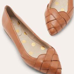 Woven Toe Ballerinas - Tan   Boden (UK)