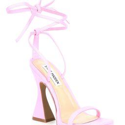 Lafayette Ankle Wrap Square Toe Sculptural Heel Dress Sandals | Dillards