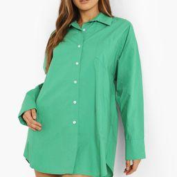 Cotton Oversized Shirt Dress | Boohoo.com (UK & IE)