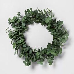 Faux Eucalyptus Wreath - Hearth & Hand™ with Magnolia | Target