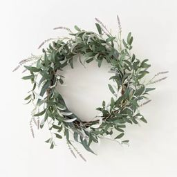 """26"""" Artificial Olive/Eucalyptus Leaf with Lavender Wreath - Threshold™ designed with Studio McG... 