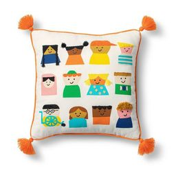 Kids Embroidered Square Throw Pillow - Christian Robinson x Target | Target