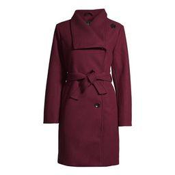 Mark Alan Women's Asymmetrical Belted Wrap Coat | Walmart (US)