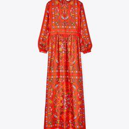 Silk Scarf Printed Long Dress | Tory Burch (US)