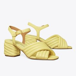 Kira Quilted Heeled Sandal | Tory Burch (US)