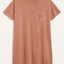 Loose Vintage Garment-Dyed T-Shirt Shift Dress for Women | Old Navy (US)