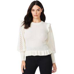 Sofia Jeans by Sofia Vergara Women's Pointelle Sleeve Sweater | Walmart (US)