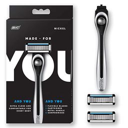 Made For You by BIC Shaving Razor Blades for Every Body - Men & Women, with 2 Cartridge Refills -...   Amazon (US)