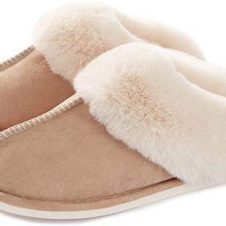 Womens Slipper Memory Foam Fluffy Soft Warm Slip On House Slippers,Anti-Skid Cozy Plush for Indoo...   Amazon (US)