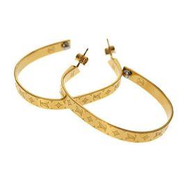 LOUIS VUITTON Pierced earrings Gold Monogram Hoop earrings MO0220 Auth  | eBay | eBay US