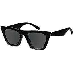 OLIEYE Vintage Square Cat Eye Sunglasses Women Fashion Small Cateye Sunglasses | Amazon (US)