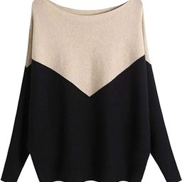 MAKARTHY Women's Batwing Sleeves Knitted Dolman Sweaters Pullovers Tops | Amazon (US)