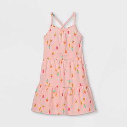 Girls' Printed Tiered Sleeveless Knit Dress - Cat & Jack™ | Target