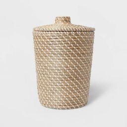 Solid Bathroom Wastebasket Tan - Threshold™ | Target