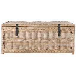 happimess Caden 46 in. Natural Wicker Storage Trunk-HPM9000C - The Home Depot | The Home Depot